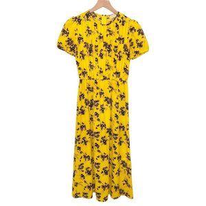 Michael Kors Yellow Floral Midi Dress